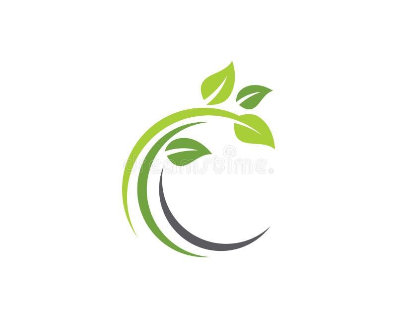 Het element van de de ecologieaard van het boomblad vector illustratie