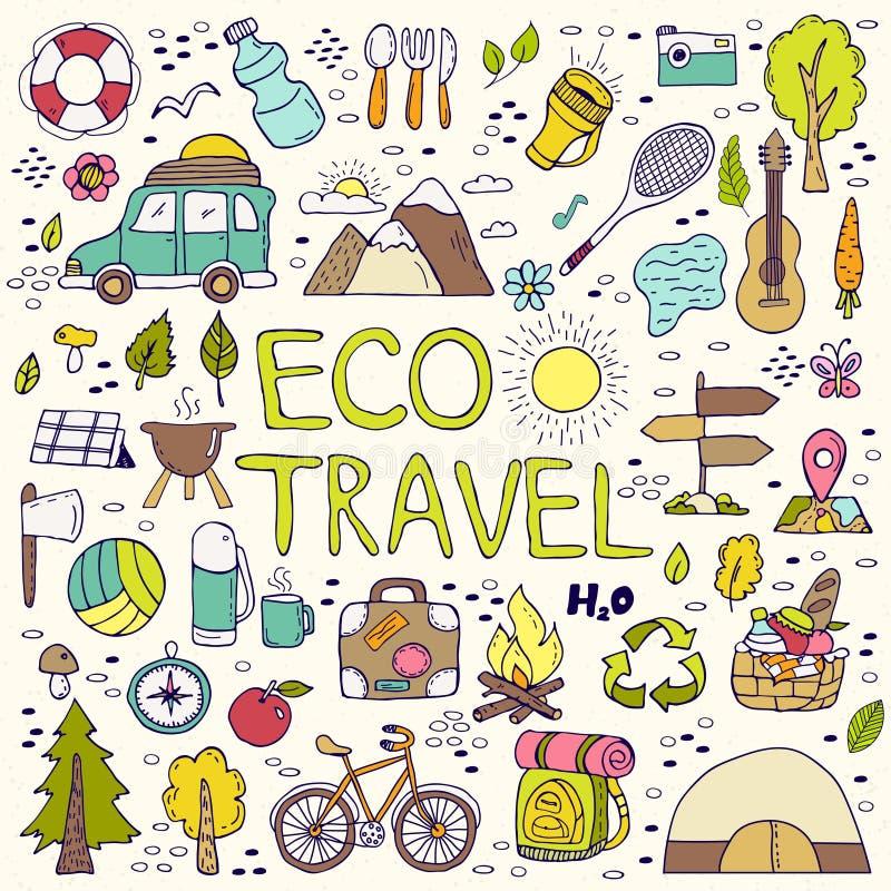 Het element van de Ecoreis De krabbels van de handtekening vector illustratie
