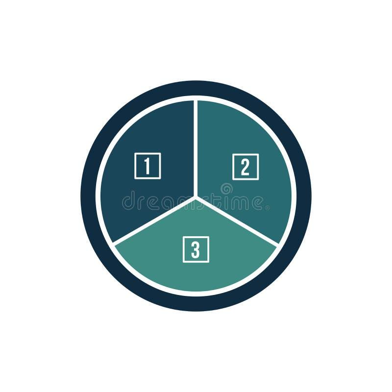 Het element van de Infographiccirkel Grafiek, grafiek, diagram met 7 stappen, opties, delen, processen, fase Vector bedrijfsmalpl vector illustratie