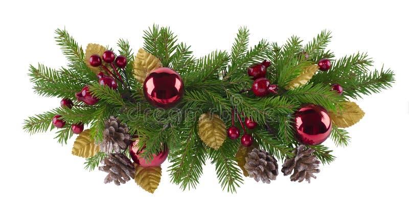 Het element van de Kerstmisdecoratie stock foto
