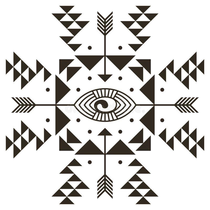 Het element van de oogtatoegering royalty-vrije illustratie
