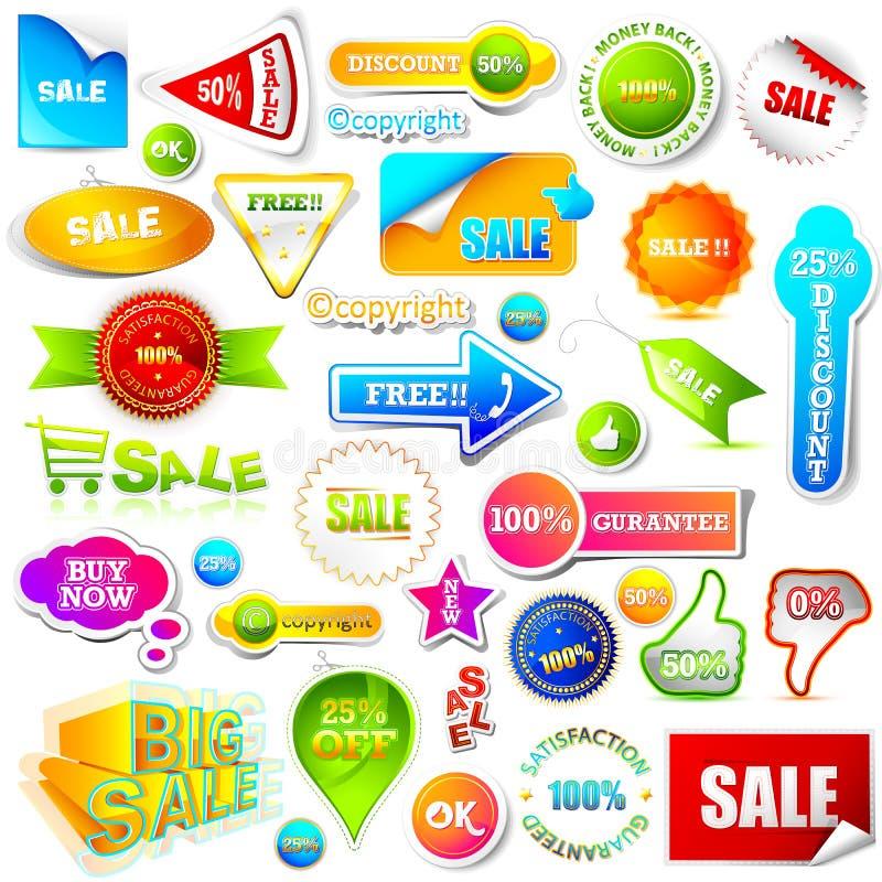 Het Element van de verkoop royalty-vrije illustratie