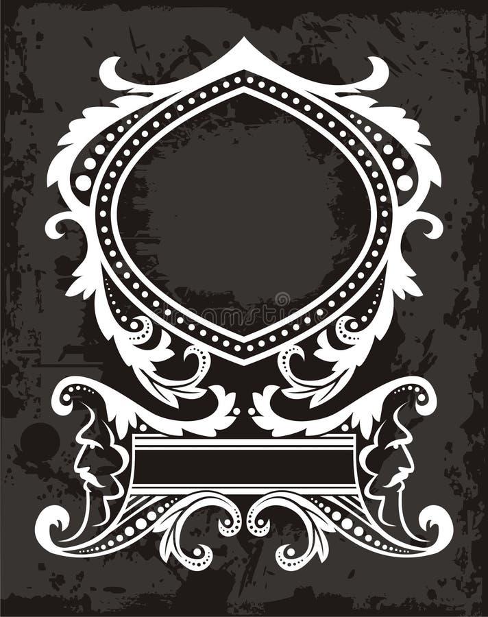 Het element van het embleem royalty-vrije illustratie