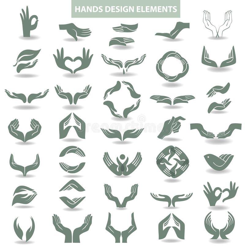 Het element van het handenontwerp vector illustratie