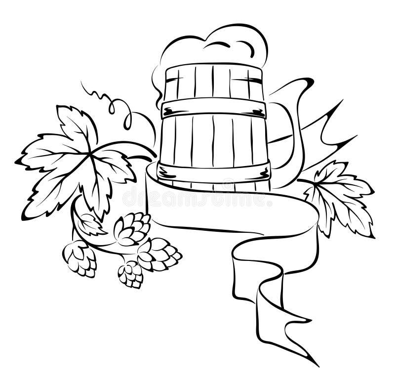 Het element van het ontwerp - het bier stock illustratie