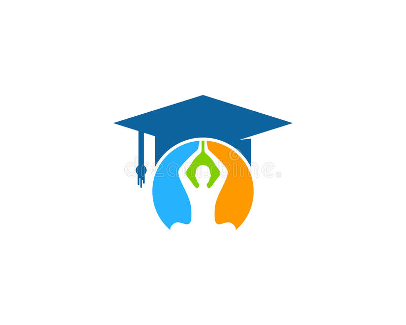 Het Element van het Pictogramlogo design van het yogaonderwijs stock illustratie
