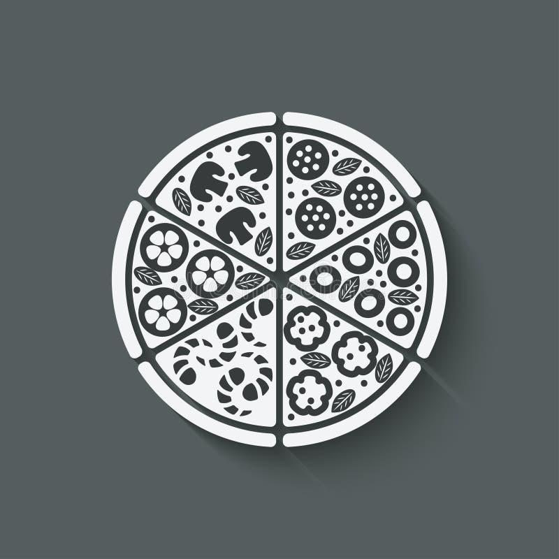 Het element van het pizzaontwerp royalty-vrije illustratie