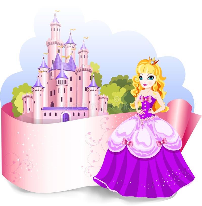 Het element van het prinsesontwerp royalty-vrije illustratie