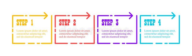 Het Element van Infographic Kleurrijk diagram, bedrijfsgrafiekillustratie vector illustratie