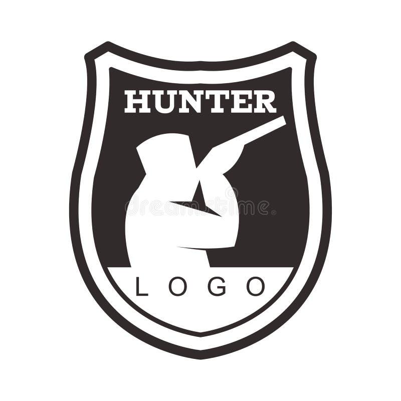 Het Element van Logo Design van het de jachtpictogram royalty-vrije illustratie