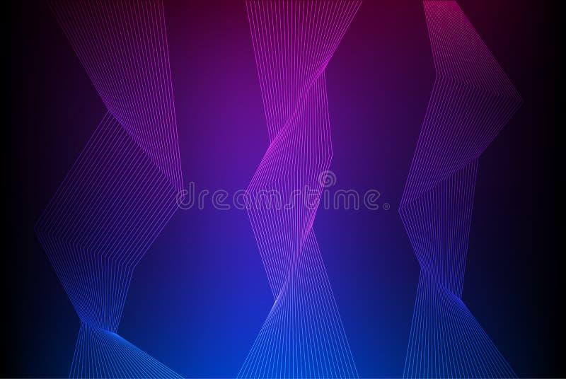 Het element van het neonontwerp golvend van vele parallelle lines06 stock afbeelding