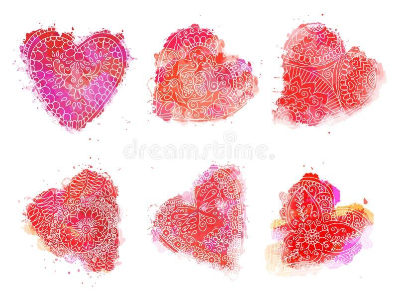 Het elementenreeks van de tatoegeringshenna vector illustratie