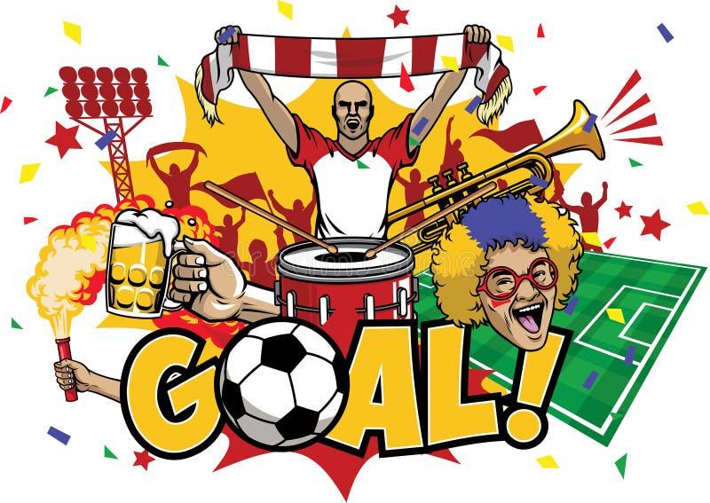 Het elementenreeks van het voetbalontwerp vector illustratie