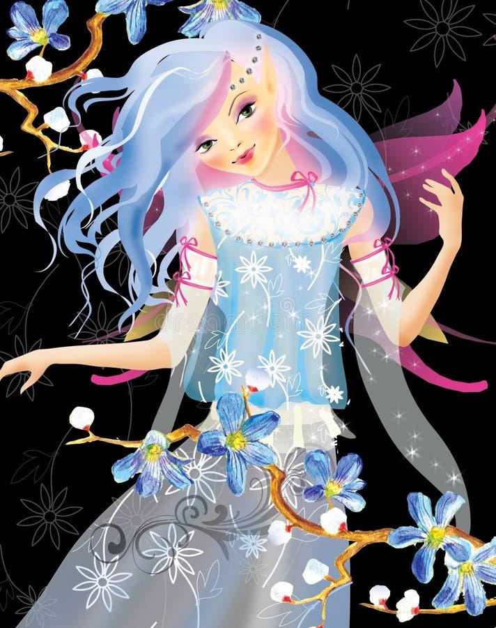 Het elf van de lente royalty-vrije illustratie