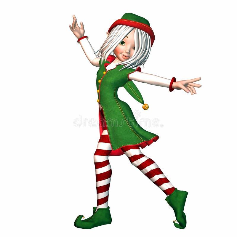 Het Elf van Kerstmis vector illustratie