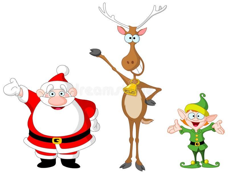 Het elf van Rudolph van de kerstman royalty-vrije illustratie