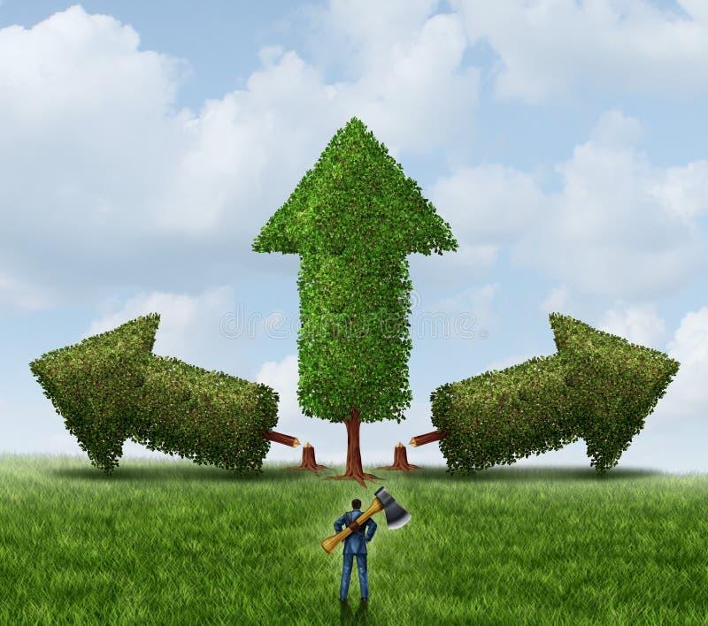 Download Het Elimineren Van Concurrentie Stock Illustratie - Illustratie bestaande uit besnoeiing, eliminating: 39105473
