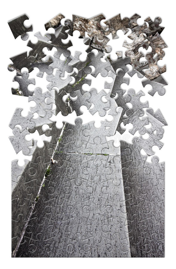 Het elimineren van of het overwinnen van architecturaal beeld i van het barrièresconcept royalty-vrije stock afbeelding