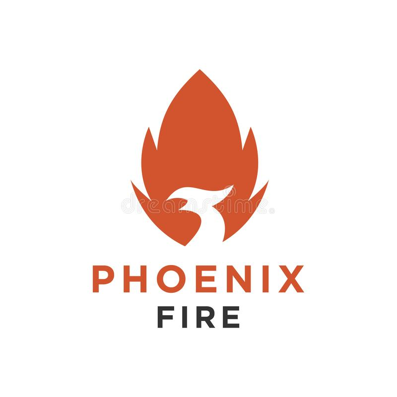 Het embleem of de havik van Eagle, vogel, het symbool van Phoenix en de stijl van de pictogramluxe royalty-vrije illustratie