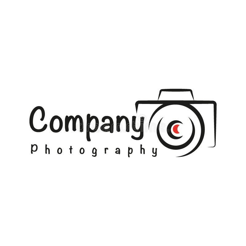 Het Embleem eenvoudige minimalistisch van het fotografiebedrijf royalty-vrije illustratie