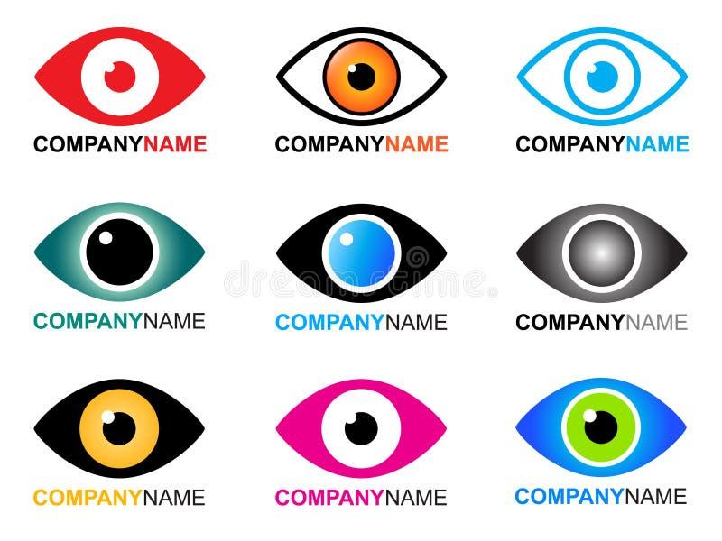 Het embleem en de pictogrammen van het oog