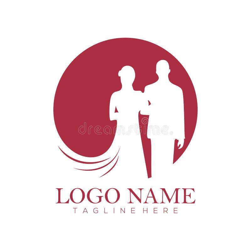 Het embleem en het pictogram van de huwelijksdienst royalty-vrije illustratie