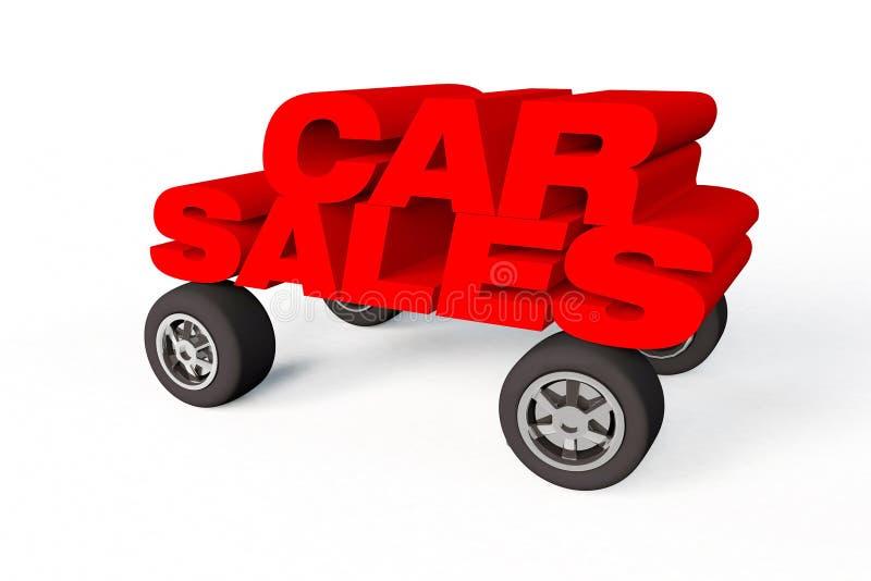 Het embleem of het teken van de autoverkoop op een witte achtergrond vector illustratie