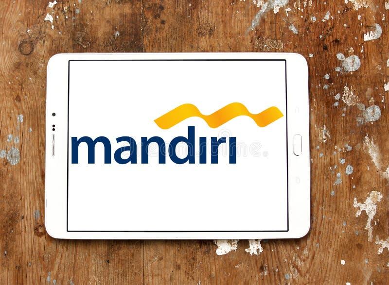 Het embleem van bankmandiri stock afbeelding
