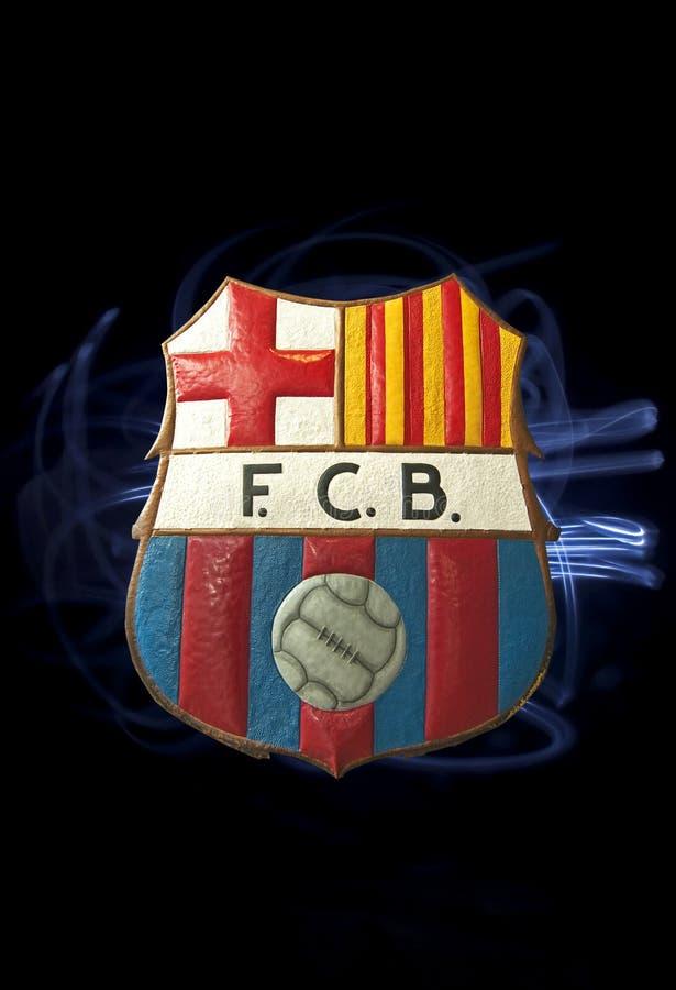 Het embleem van Barcelona FC stock fotografie