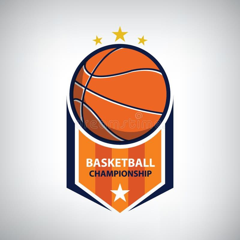 Het embleem van het basketbalkampioenschap royalty-vrije illustratie