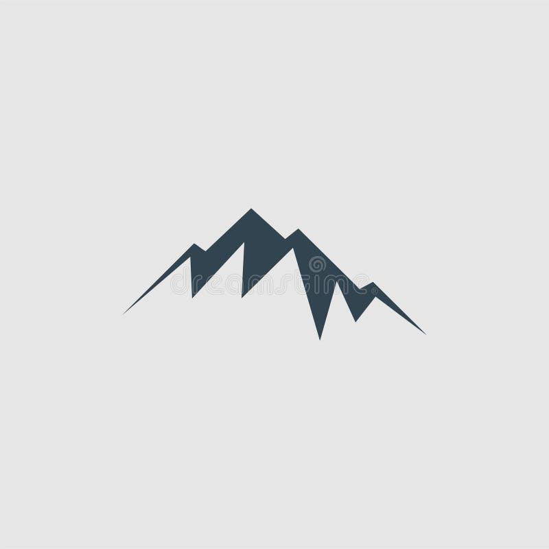 Het embleem van het bergmonogram royalty-vrije illustratie