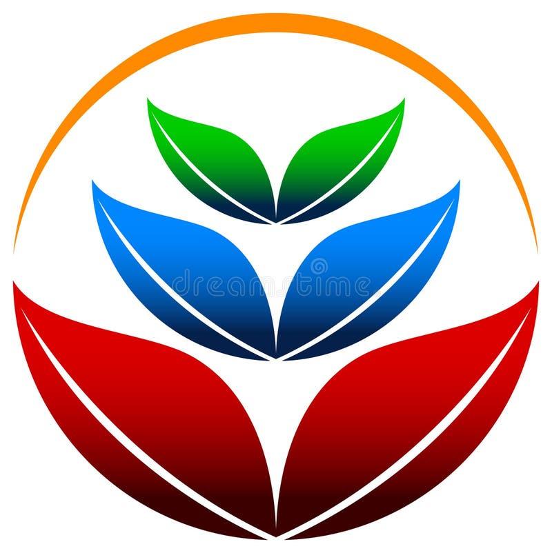 Het embleem van bladeren vector illustratie