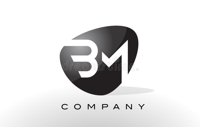 Het Embleem van BM De Vector van het brievenontwerp stock illustratie
