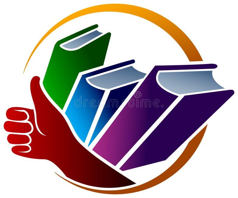 Het embleem van boeken vector illustratie