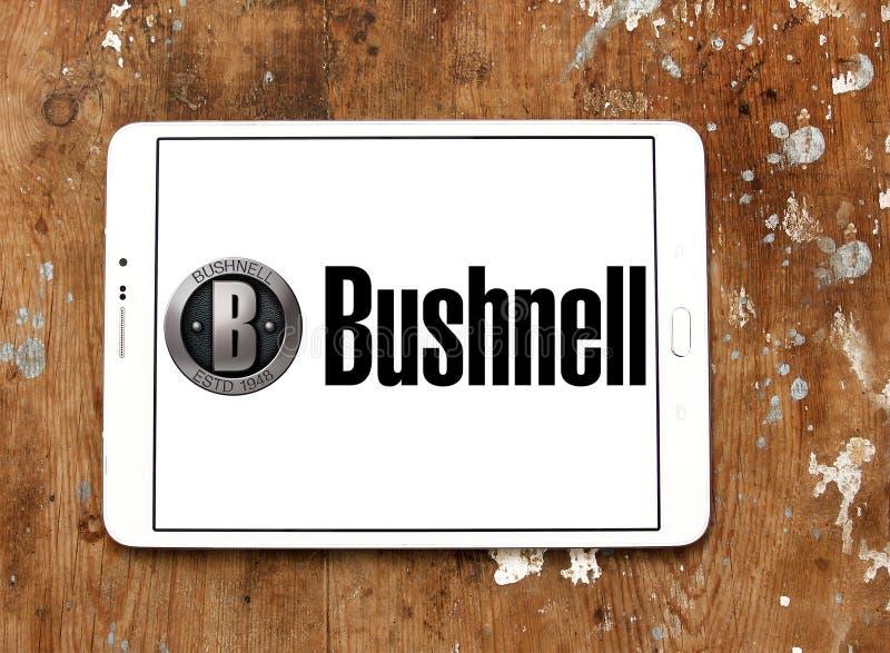 Het embleem van het Bushnellbedrijf stock foto
