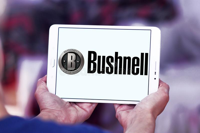 Het embleem van het Bushnellbedrijf stock afbeelding