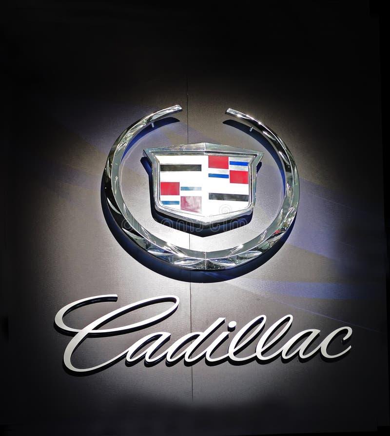 Het embleem van Cadillac stock afbeelding