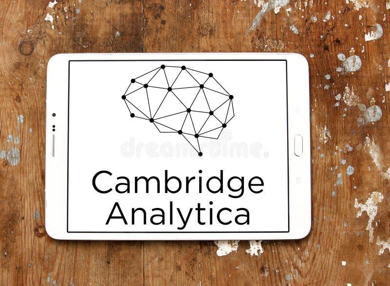 Het embleem van Cambridge Analytica stock afbeelding