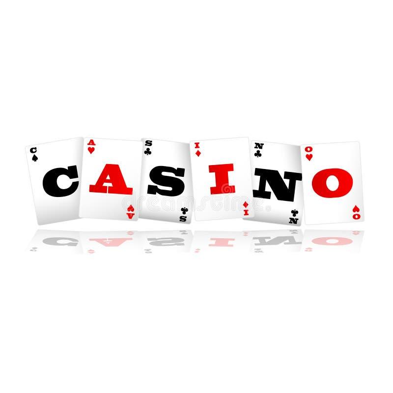 Het Embleem van casinokaarten stock illustratie