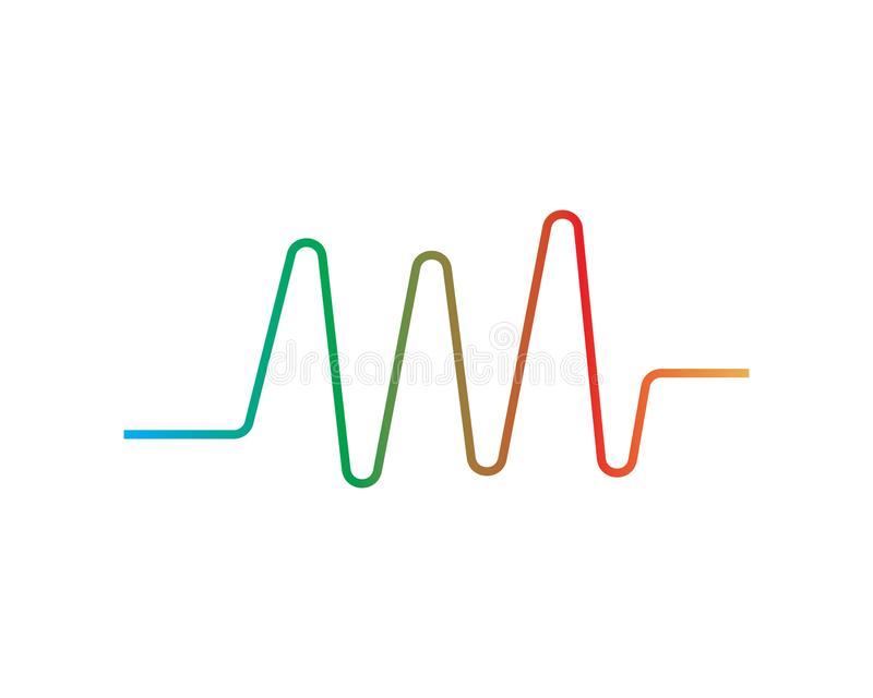 het embleem van correcte golfilustration vector illustratie