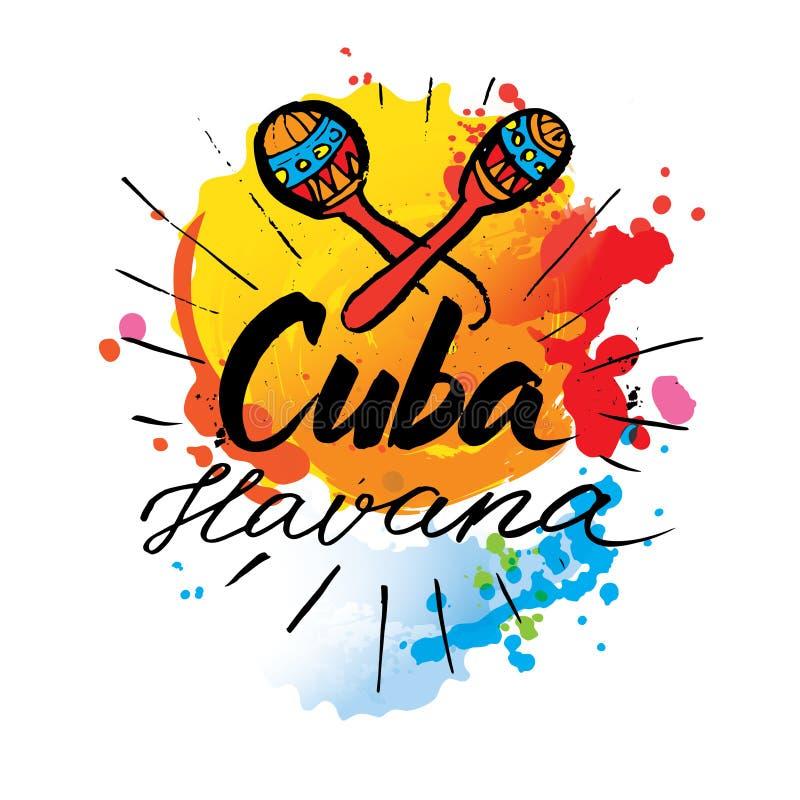 Het embleem van Cuba Havana royalty-vrije illustratie