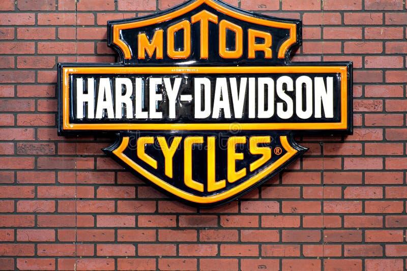 Het embleem van Davidson van Harley stock afbeeldingen
