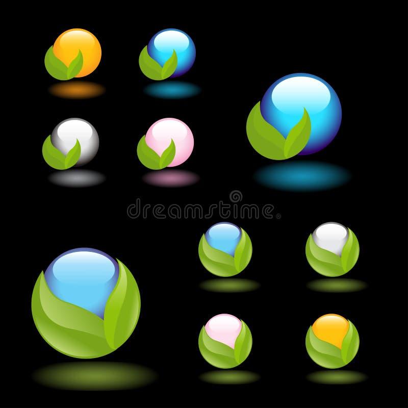 Het embleem van de aard vector illustratie
