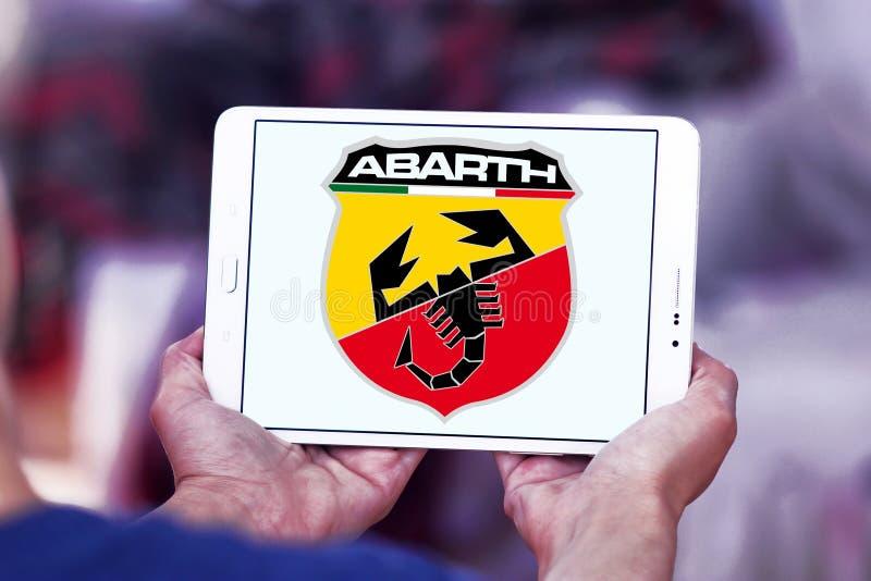 Het embleem van de Abarthauto stock afbeeldingen