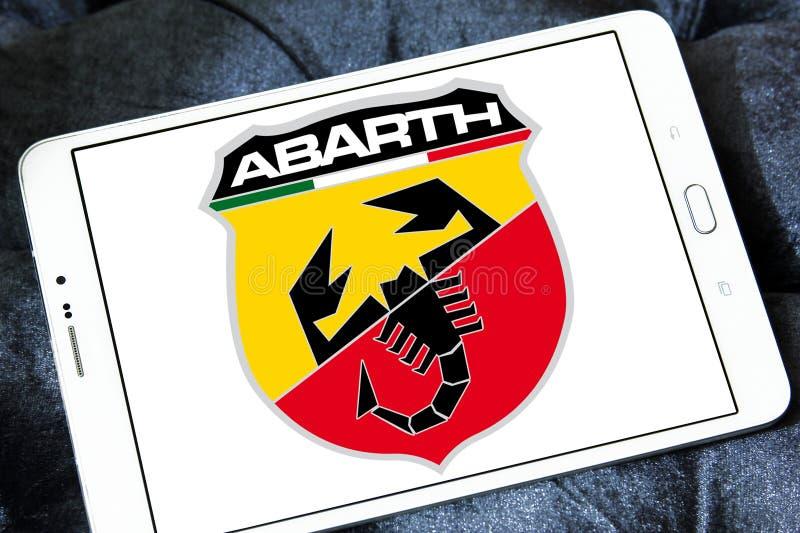 Het embleem van de Abarthauto stock afbeelding