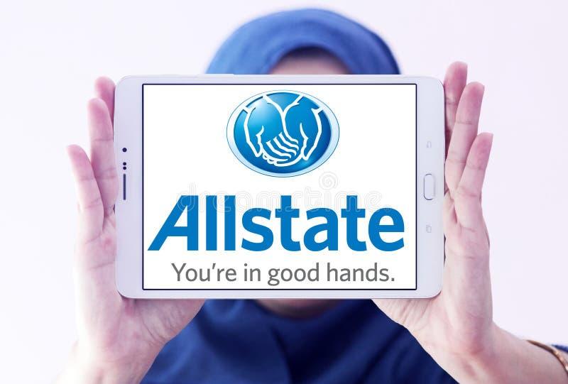 Het embleem van de Allstateverzekeringsmaatschappij stock fotografie
