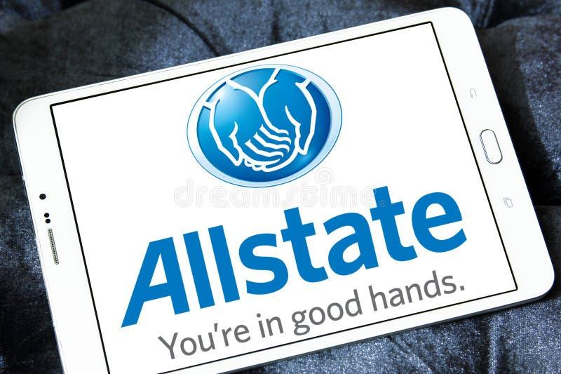 Het embleem van de Allstateverzekeringsmaatschappij royalty-vrije stock afbeeldingen