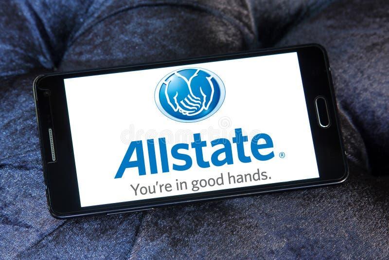 Het embleem van de Allstateverzekeringsmaatschappij royalty-vrije stock afbeelding