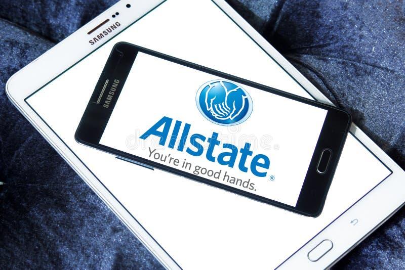 Het embleem van de Allstateverzekeringsmaatschappij stock afbeelding
