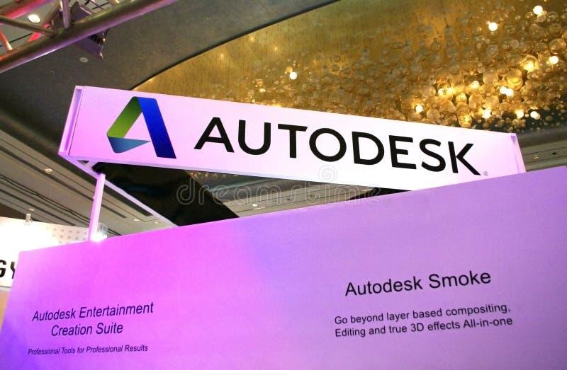 Het embleem van de Autodesktentoonstelling stock foto